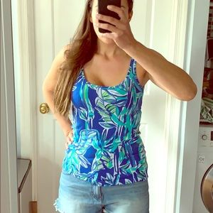 Lilly Pulitzer Blue Crush Bamboom Tank Top